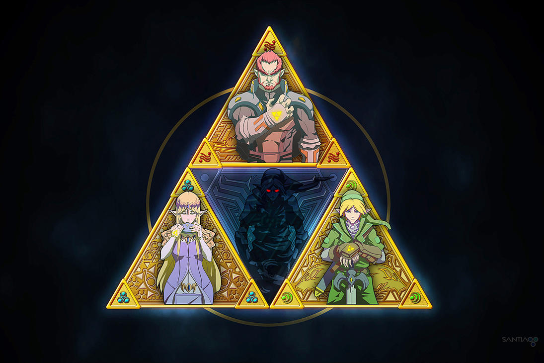 Triforce and a bit of darkness by Pertheseus