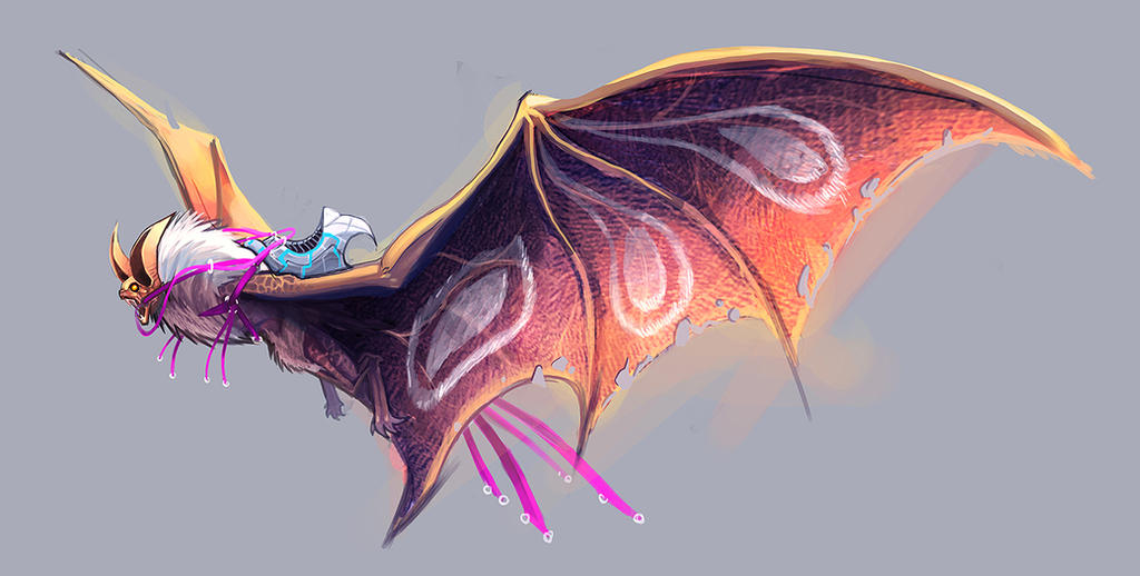 sketch- bat dragon by Perthese...