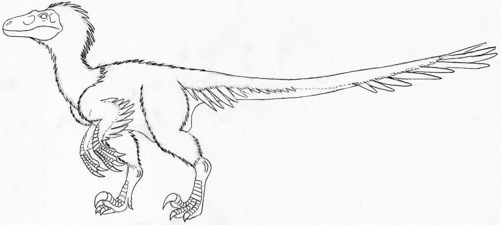 Utahraptor lines by aesirr on deviantart for Utahraptor coloring page