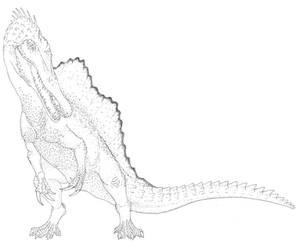 Spinosaurus by Aesirr