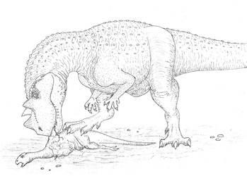 Ceratosaurus by Aesirr