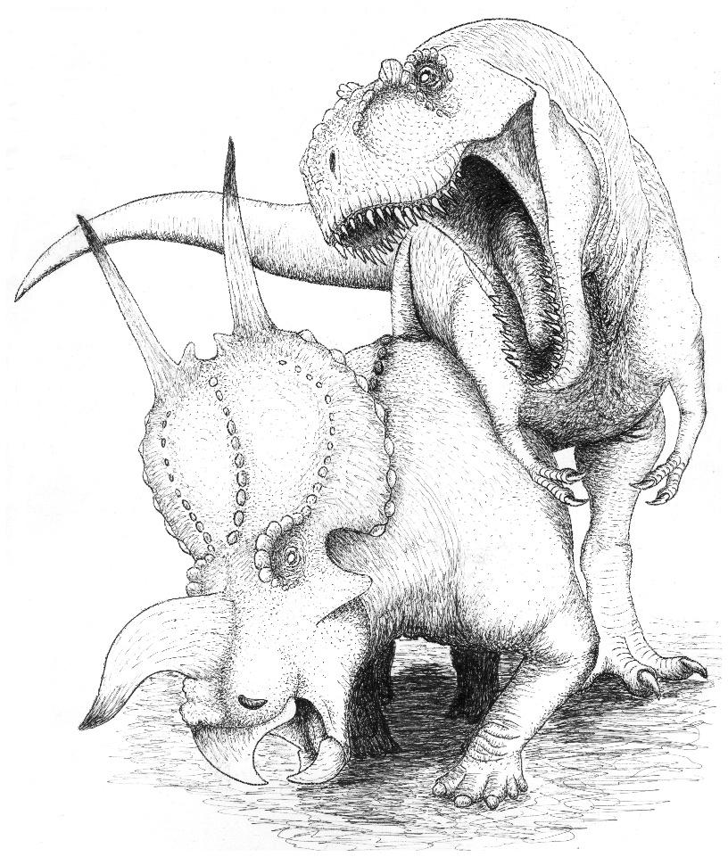 Daspletosaurus and Einiosaurus by Aesirr