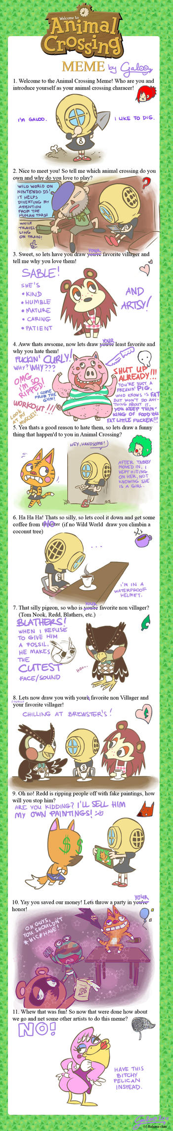 animal crossing meme filled by galoogamelady on deviantart