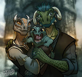 The Happy Argonian Family ver2