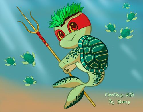 MerMay 18 Turtle Mermaid