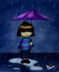 Undertale, the umbrella and the rain