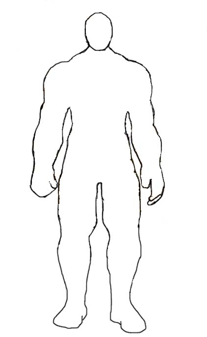 Blank Human Body Diagram Outline Printable Human Body Diagram Mtm