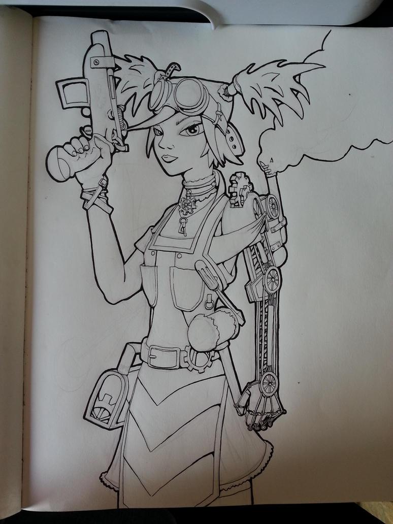 Steampunk Gaige the Mechomancer by DaemonReaper