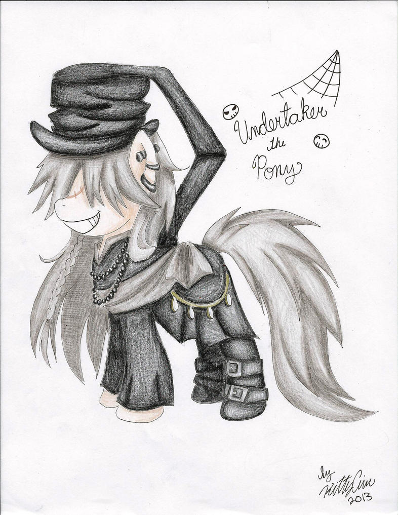 Undertaker the Pony by TheUndertakersKitty