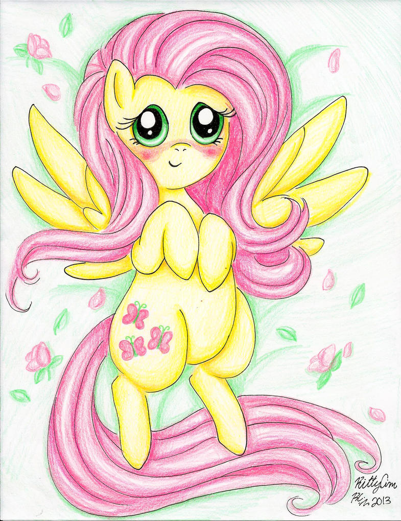 Fluttershy :3 by TheUndertakersKitty