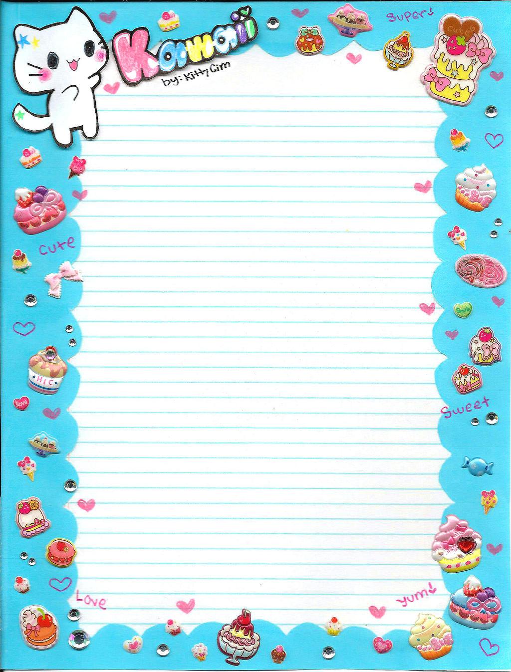 Kawaii Kitten notebook paper by TheUndertakersKitty on DeviantArt – Notebook Paper