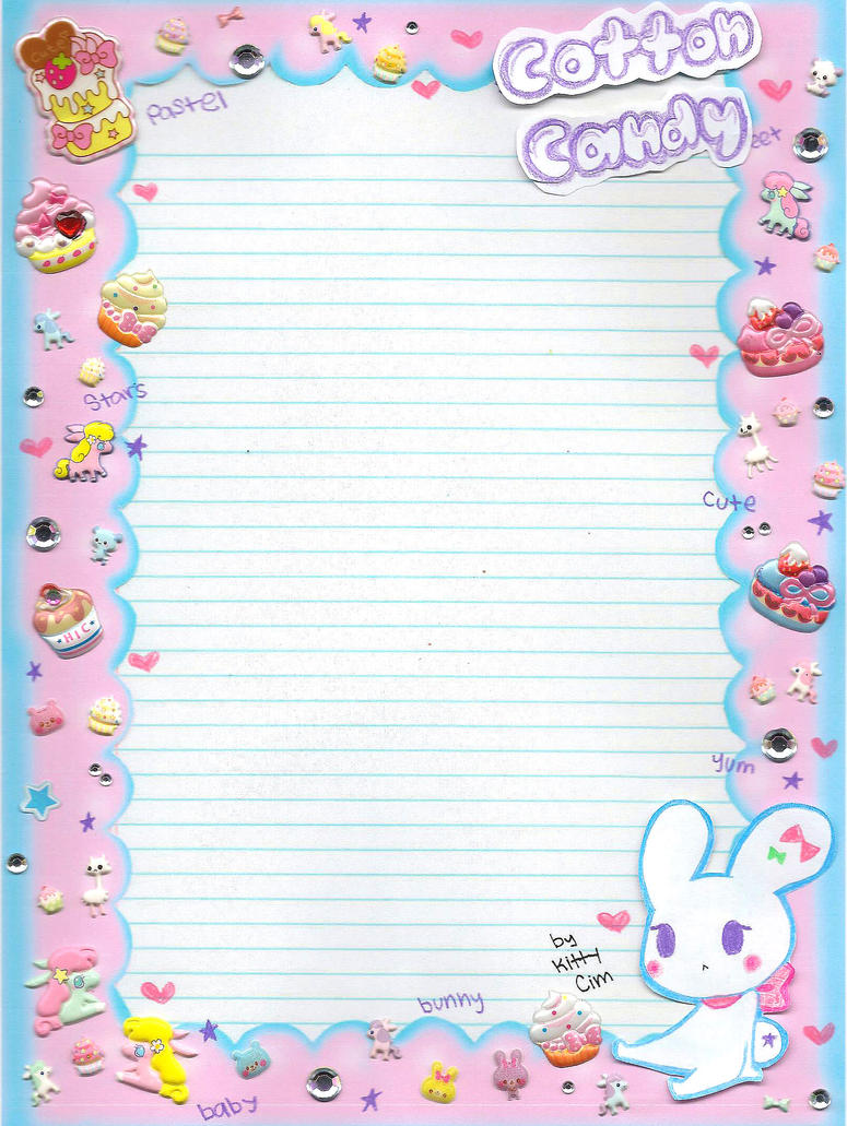 Cotton Candy notebook paper~ by TheUndertakersKitty on ...