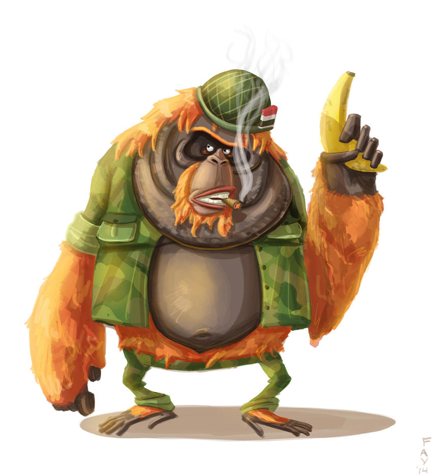 Sergeant Bananas by GrizzlySlippers
