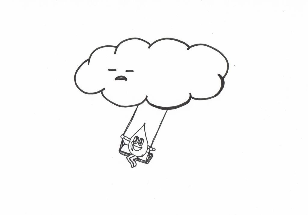 happy raindrop and grumpy cloud by happyraindrop on