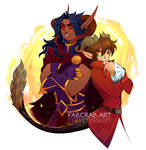 commission - Tev and Dante