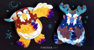 moonkin badges - tauren and worgen