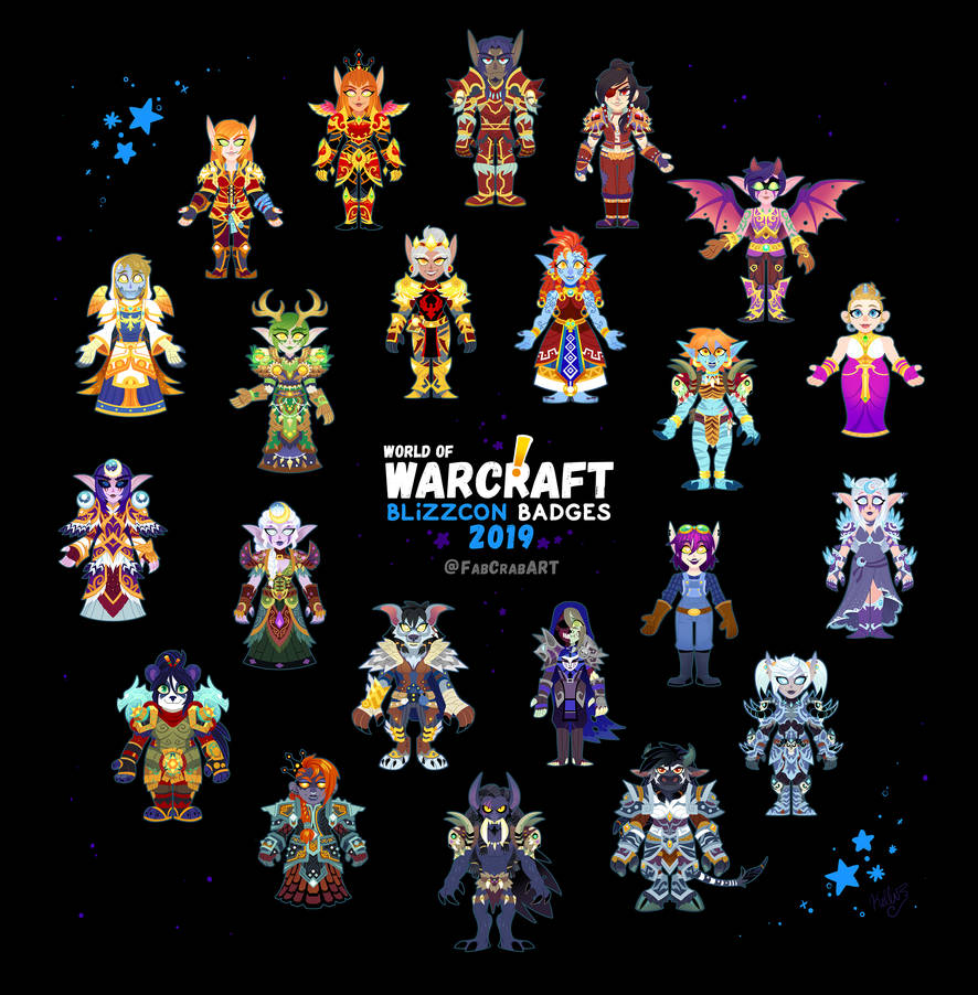 Blizzcon 2019 badges - ALL