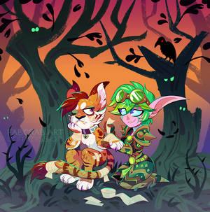 commission - chibi Eli and Leroy