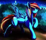 Picture comparison with Rainbow Dash.