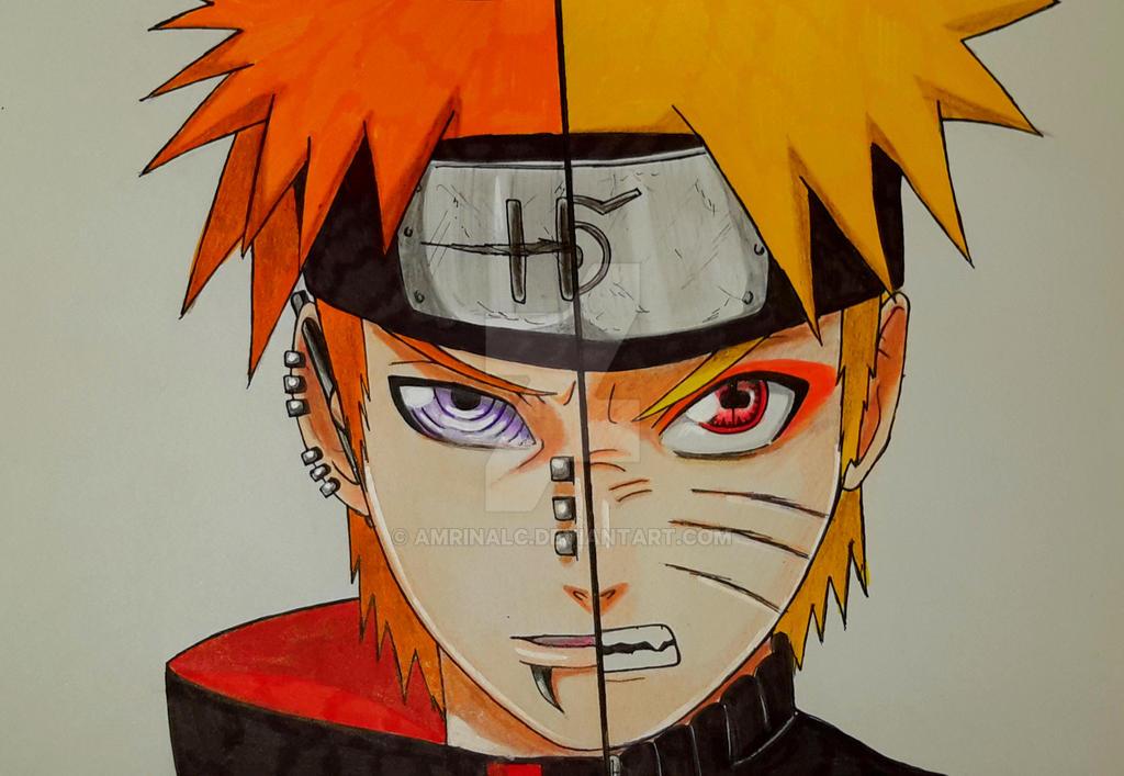 Naruto VS Pain by Amrinalc