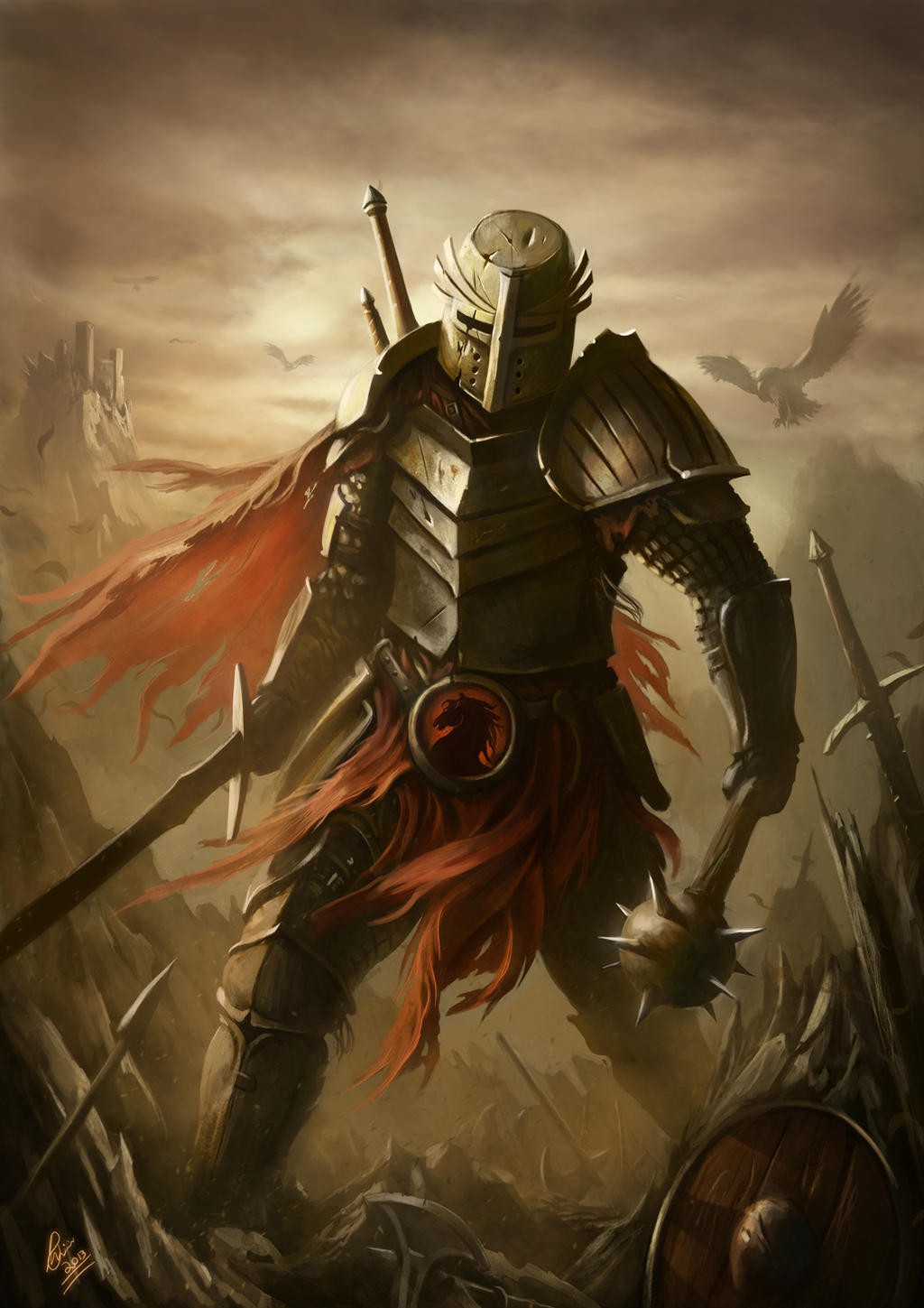 Knight cover artwork by raymondminnaar on deviantart for Cool fantasy drawings