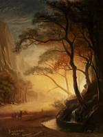 Master study - Albert Bierstadt by RaymondMinnaar