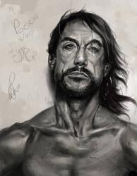 Iggy Pop  Portrait study by RaymondMinnaar
