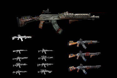 Ak 47 Concepts for a pet project by RaymondMinnaar