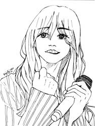 Moonbyul Lineart - Traditional