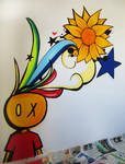 Graffiti finish