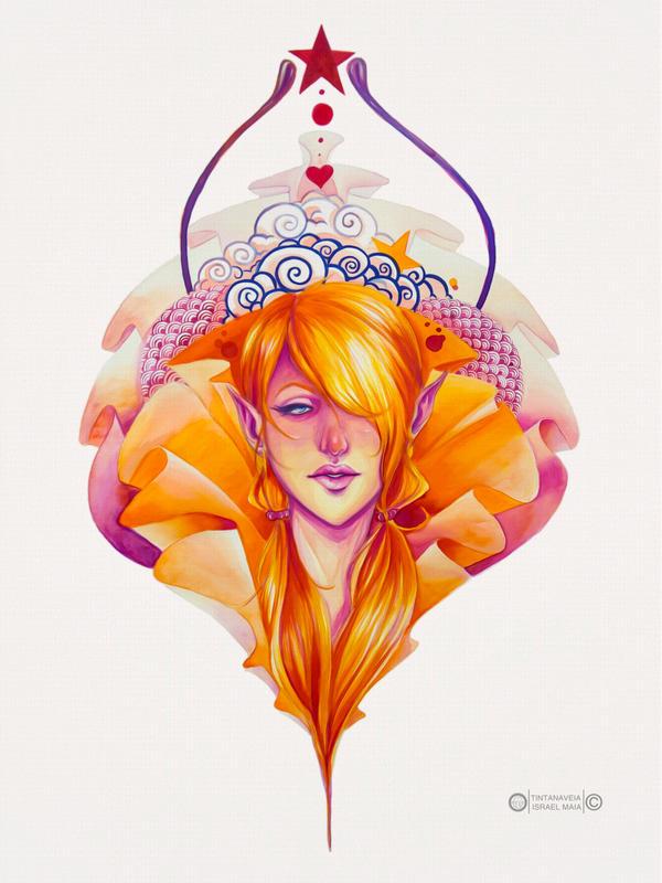 Orange fairy by tintanaveia