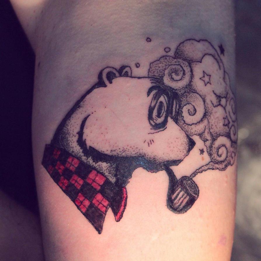 bear tattoo by tintanaveia