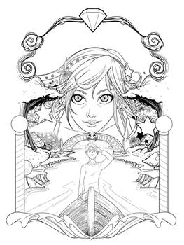 Lucy in the Sky - Lineart poster