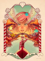 Color poster -  Lucy in the sky