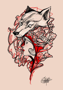Red riding hood _ tattoo design