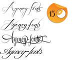 4 decorative font