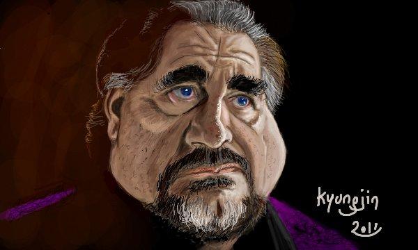 Brian Cox Ivan Simanov caricature RED