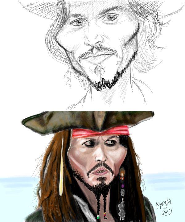 Johnny Depp Caricature