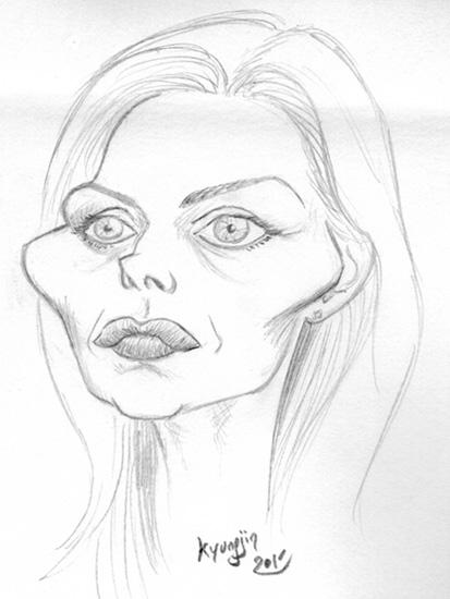Michelle Pfeiffer caricature