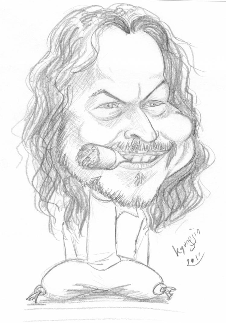 Gary Sinise Lt. Dan caricature
