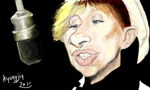 Brabra Streisand caricature
