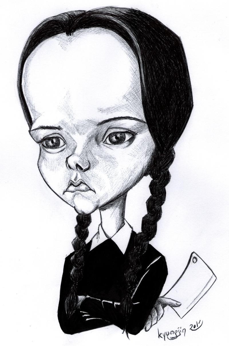 Christina Ricci caricature