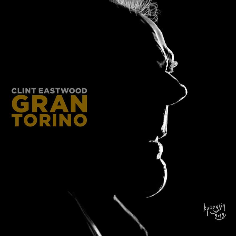 Clint Eastwood Gran Torino caricature