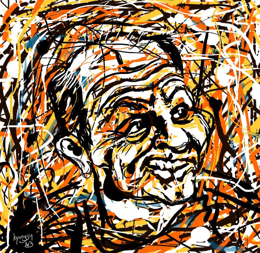 Jackson Pollock caricature