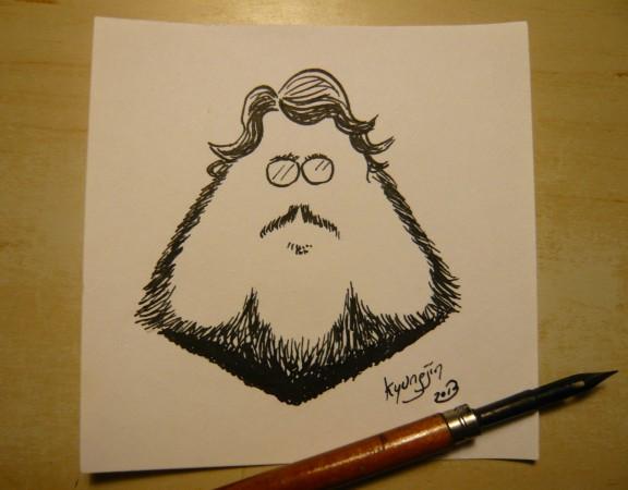 Guillermo Del Toro caricature