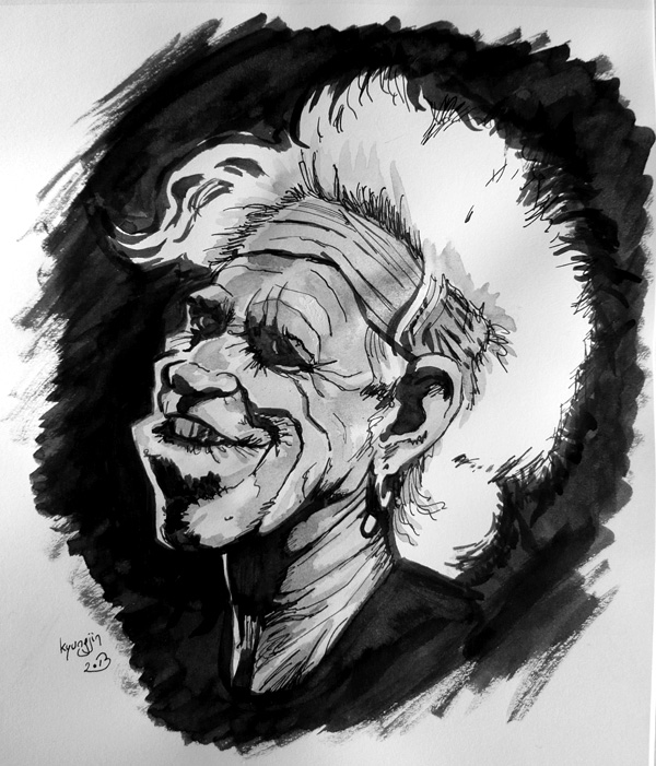 caricature Keith Richards