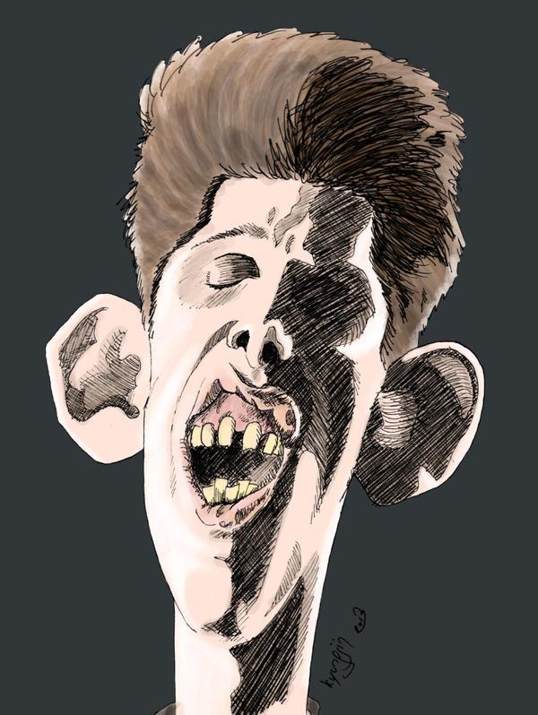 caricature Shane MacGowan couleur