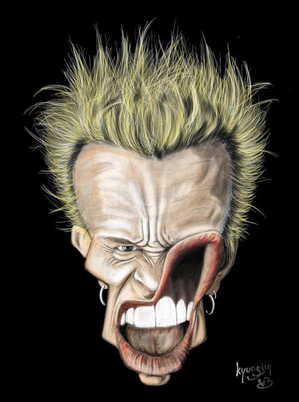 Billy Idol caricature