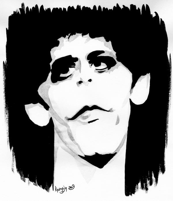 caricature de Lou Reed