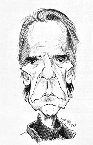 Jeremy Irons caricature